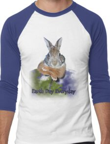Earth Day Everyday Bunny Men's Baseball ¾ T-Shirt