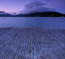 Purple dawn on Annecy lake by Patrick Morand