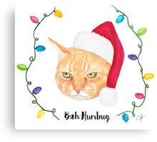 Bah Humbug Cat Canvas Print