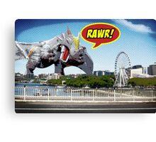 Godzilla attacks! Canvas Print