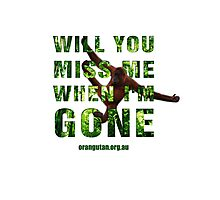 Will you miss me when I'm gone? Photographic Print