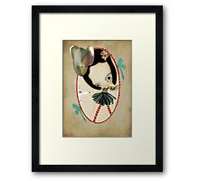 Once upon a time a doll Framed Print