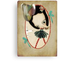 Once upon a time a doll Canvas Print