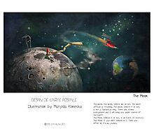 """""""The Moon"""" in words & image (M.Konecka) Photographic Print"""