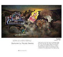 """Carmel"" in words & image (M.Konecka) Photographic Print"