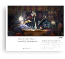 """""""Beijing"""" in words & image (M.Konecka) Canvas Print"""