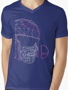 Pink Alt. Cap. Falcon by Clash Threads Mens V-Neck T-Shirt