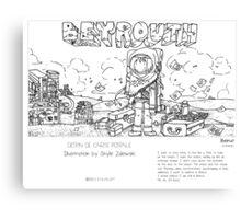 """""""Beirut"""" in words & image (S.Zalewski) Canvas Print"""