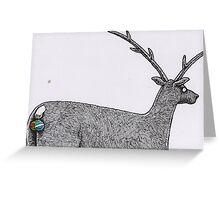 Reindeer balls Christmas card Greeting Card