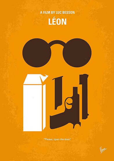 No239 My LEON minimal movie poster by Chungkong