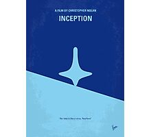 No240 My Inception minimal movie poster Photographic Print