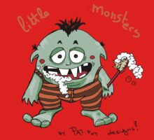 Little monster [washing teeth] Kids Tee