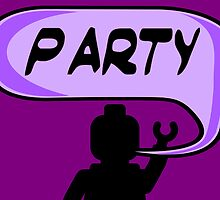 PARTY ON DUDE Invitation Greeting Card by Chillee Wilson from Customize My Minifig by ChilleeW