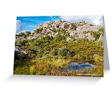 Pond among Glacial Moraines Greeting Card