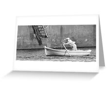 The solitary rower Greeting Card