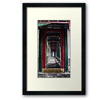 Grungy Corridor Framed Print