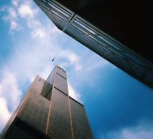 The helicopter the ledge and the sky by amaeye
