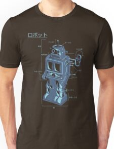 Robot Blueprint Unisex T-Shirt