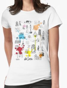 History of Art (w/ paint splashes) Womens Fitted T-Shirt
