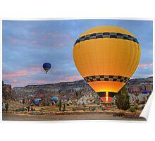 Morning Flight 2 in Cappadocia, Turkey Poster