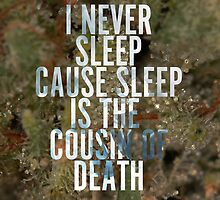 "Nas Illmatic ""Sleep is the cousin of death"" NY State of Mind by twoorthreeor"