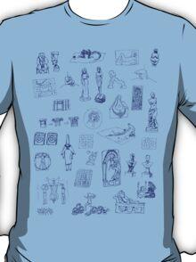 History of Art (blue artlines) T-Shirt
