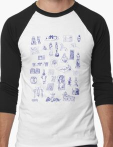 History of Art (blue artlines) Men's Baseball ¾ T-Shirt