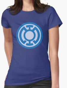 Blue Lantern Corps insignia Womens Fitted T-Shirt
