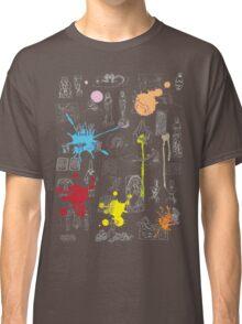 History of Art (dark tee, w/ paint splashes) Classic T-Shirt