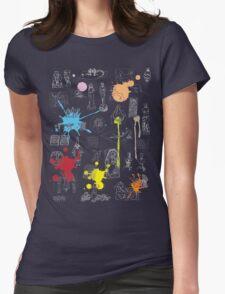 History of Art (dark tee, w/ paint splashes) Womens Fitted T-Shirt