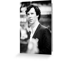Cumberbatch B&W Greeting Card