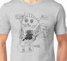 Weird Owl - BW Unisex T-Shirt