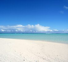 On Honeymoon Island, Aitutaki - Cook Islands by Nicola Barnard