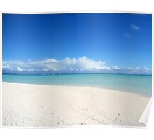 On Honeymoon Island, Aitutaki - Cook Islands Poster