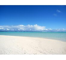 On Honeymoon Island, Aitutaki - Cook Islands Photographic Print