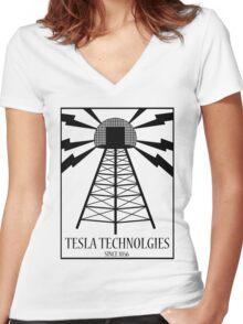 Tesla Technologies Women's Fitted V-Neck T-Shirt
