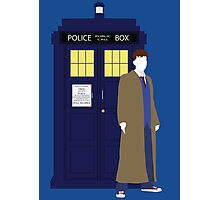 Ten and the TARDIS Photographic Print