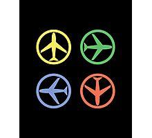PEACE AIRPLANE Photographic Print