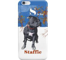 S is for Staffie iPhone Case/Skin