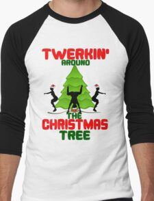 Twerk'n around the Christmas tree Men's Baseball ¾ T-Shirt