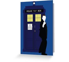 Nine and the TARDIS Greeting Card