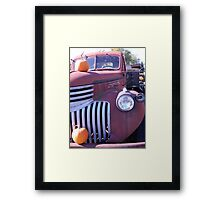 Old Farmstand Truck Framed Print