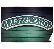 Lifeguard Sign Poster
