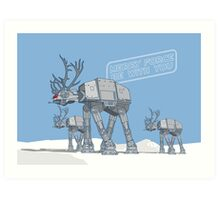 Merry Force Be With You Art Print