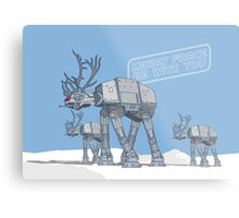 Merry Force Be With You Metal Print