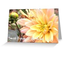 Sweet Sister of My Heart Greeting Card