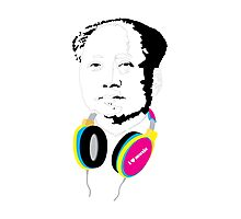 MAO LOVES MUSIC Photographic Print