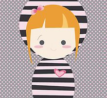 cute striped doll by claclina
