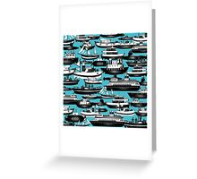 SPLASHYARTYSTORY - ALL ABOUT BOATS Greeting Card