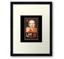 SOVIET RED ARMY I WANT YOU Framed Print